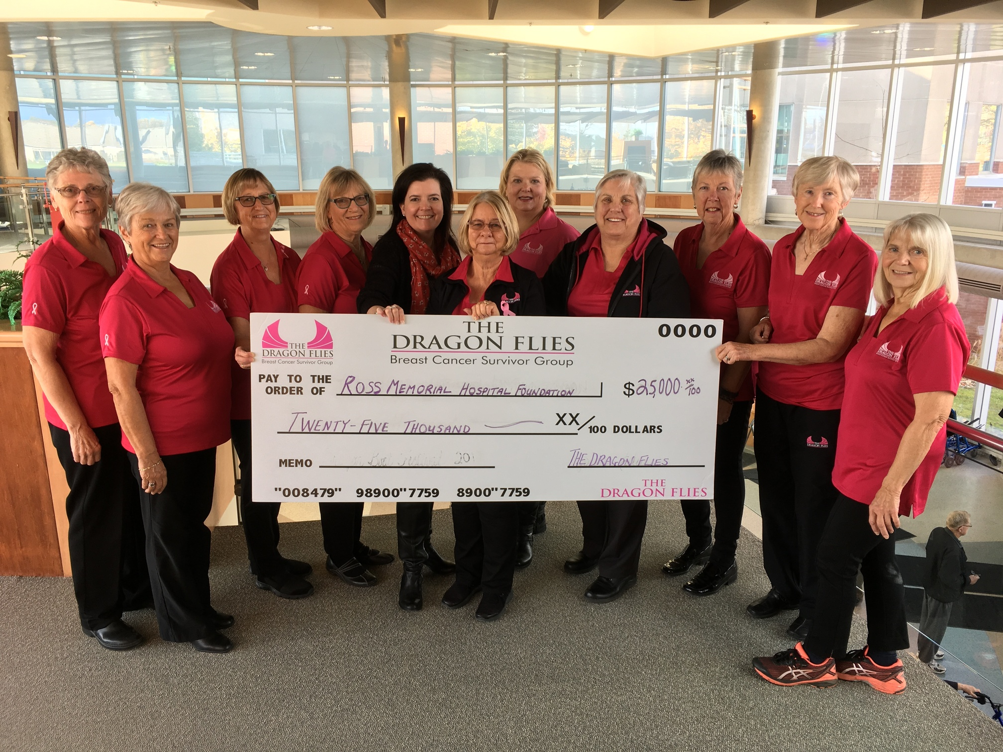 Dragon Flies 'pay it forward' with gift for new 3D mammography unit