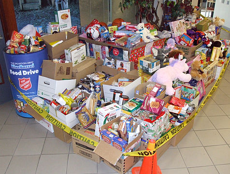 Christmas food hampers from Salvation Army