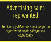 Lindsay Advocate = Advertisting Sales Rep Job