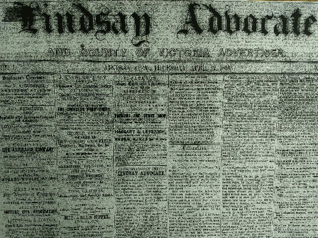 The Lindsay Advocate – serving the area since 1855
