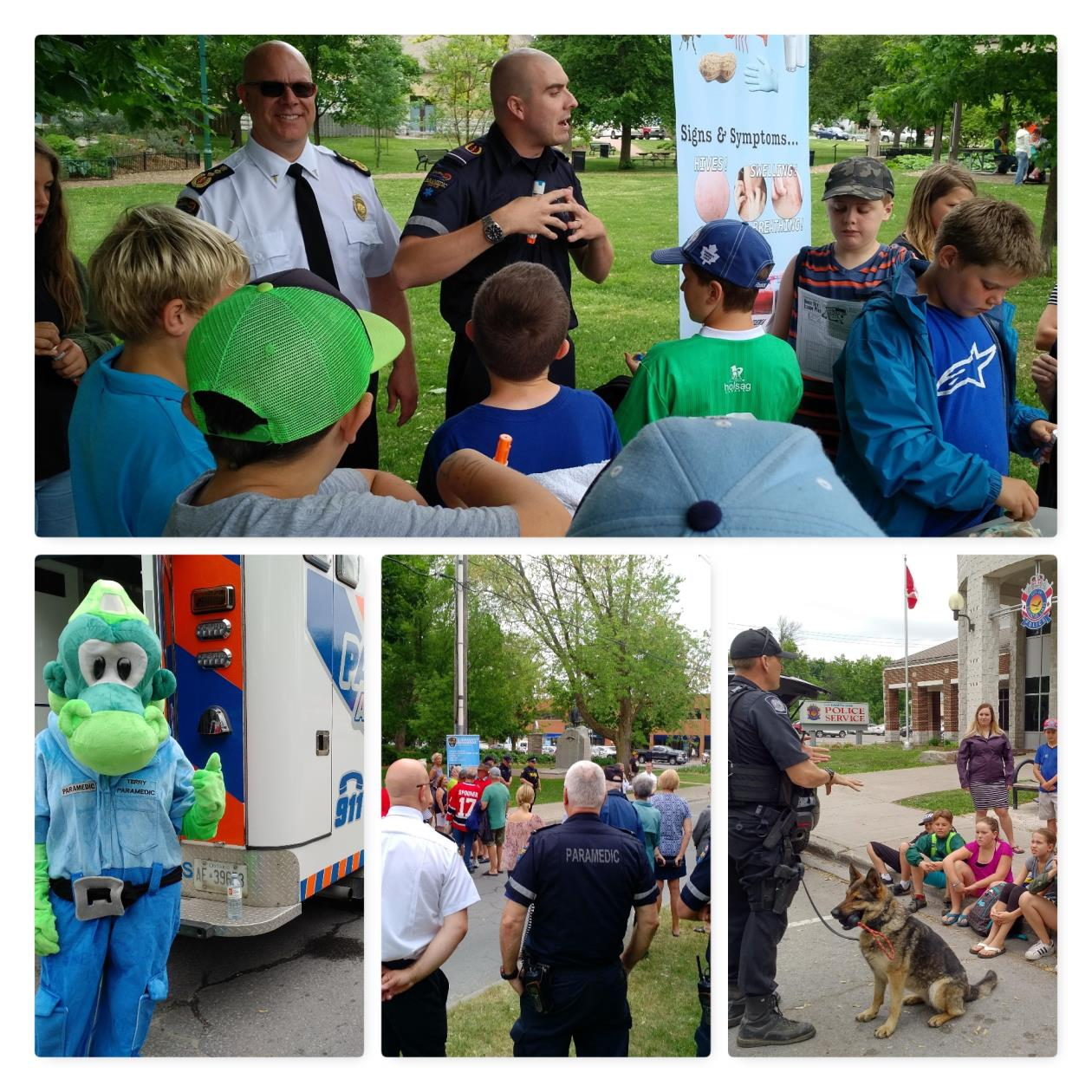 Paramedics in the Park teaches, and reaches out to students, public