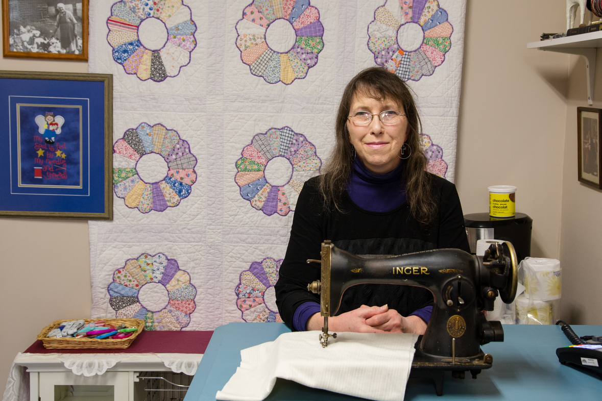 Woman on basic income opens new business – right beside MPP's office