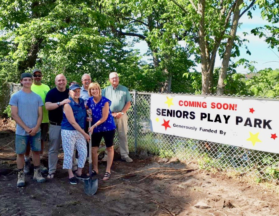 Groundbreaking Ceremony for a Seniors' Play Park in Fenelon Falls