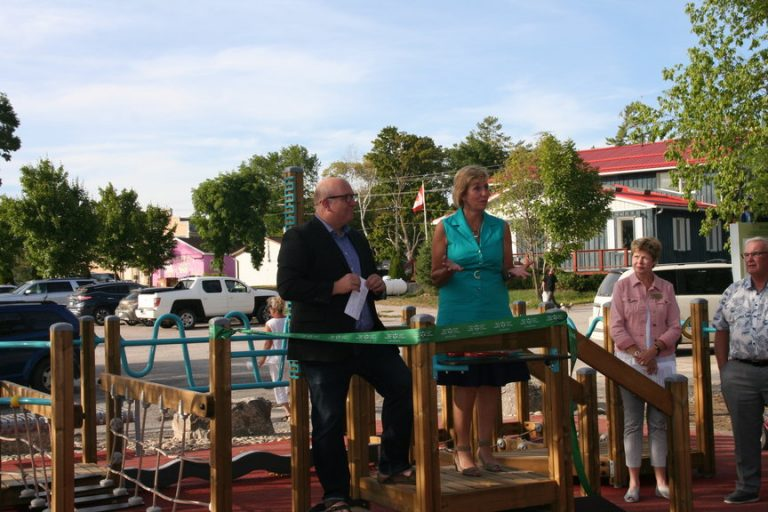 Grand opening of Seniors Play Park in Fenelon Falls