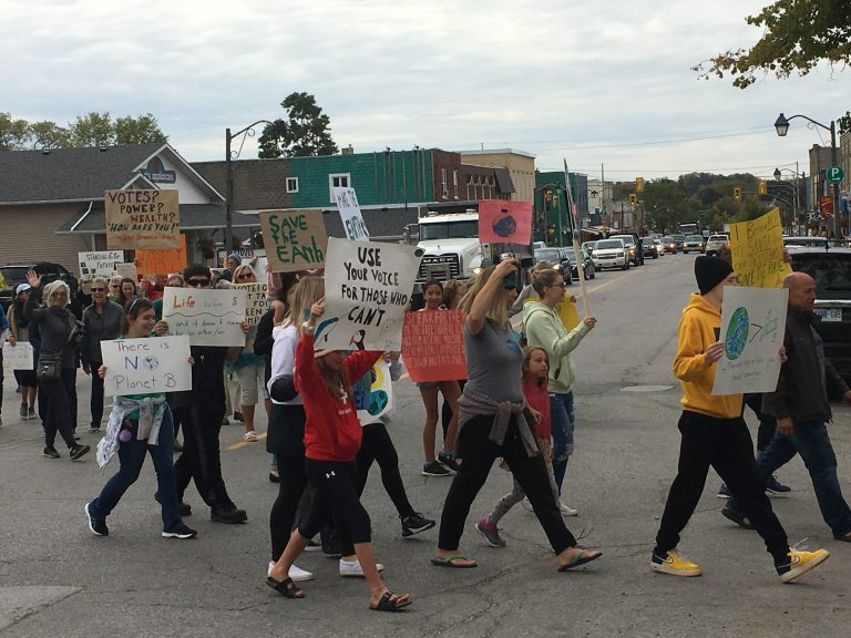 Fenelon Falls joins Lindsay in climate strike action