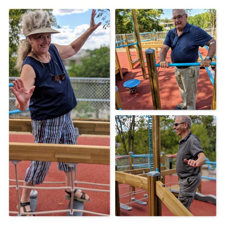 Seniors test out the cutting edge Seniors Play Park in Fenelon Falls