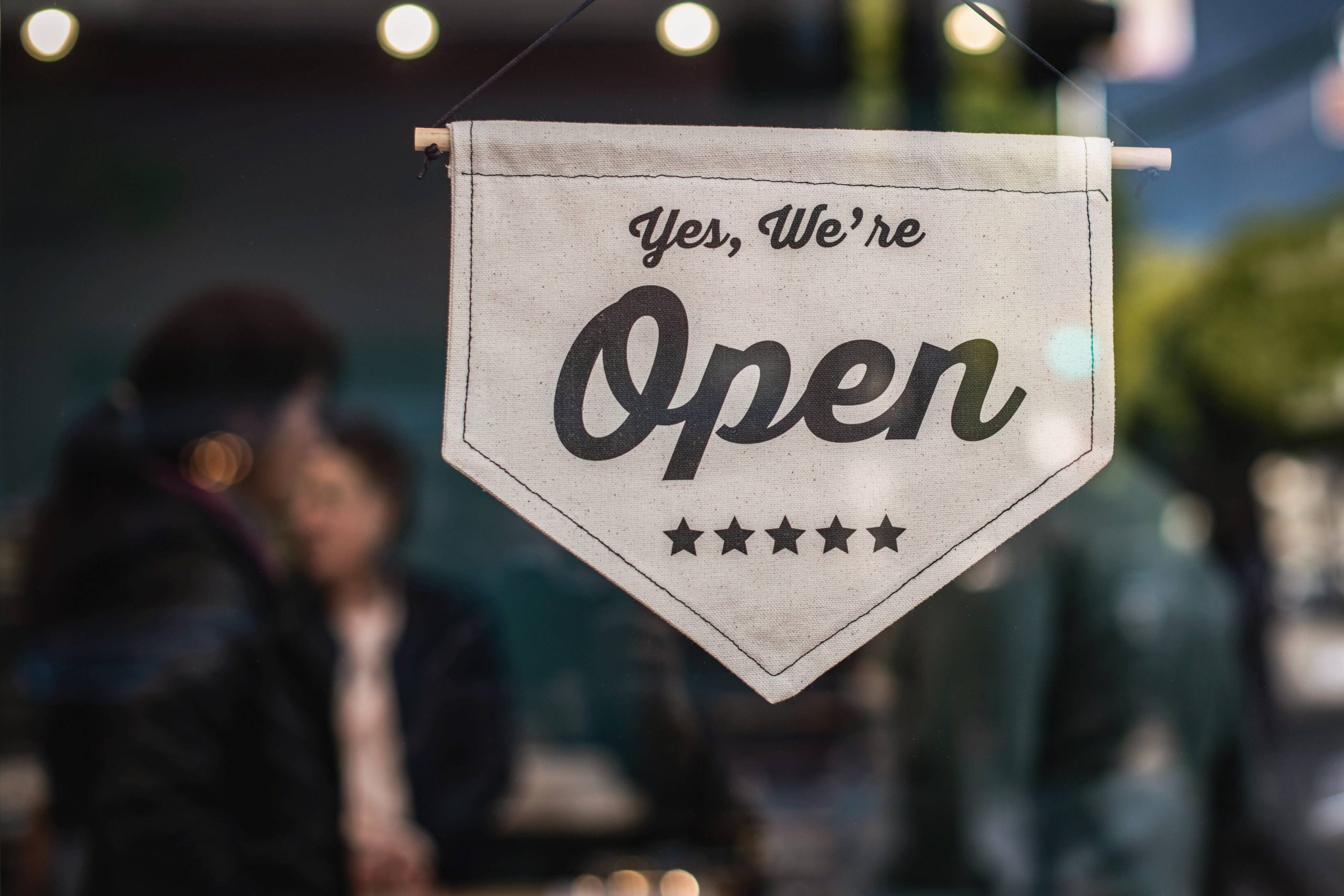 Small business - open sign